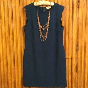 Scalloped teal Everly dress